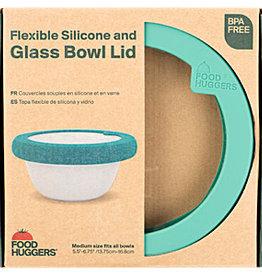 Foodhuggers Food Huggers - Glass Bowl Lid - Gradual Green M