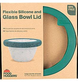 Foodhuggers Food Huggers - Glass Bowl Lid - Gradual Green L
