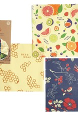 Bee's Wrap Bee's Wrap - Bee's Wrap 3-pack Medium Multi Print