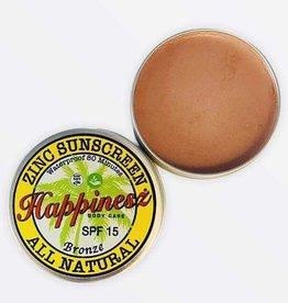 Happinesz Natuurlijke zinkoxide zonnebrandcrèmes - Bronze 60g