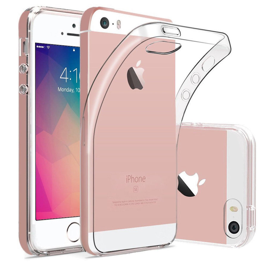 iPhone 5 / 5S / SE Cover Transparant Case-1