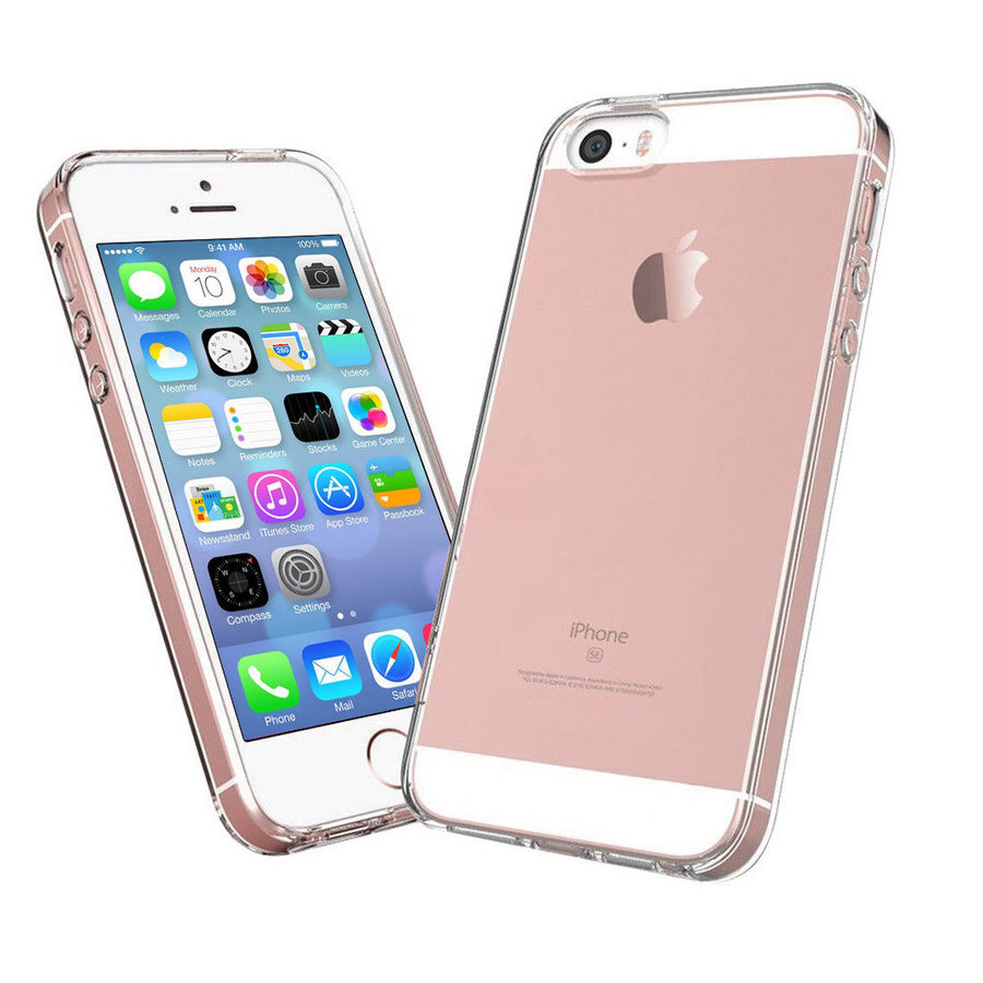 iPhone 5 / 5S / SE Cover Transparant Case-2
