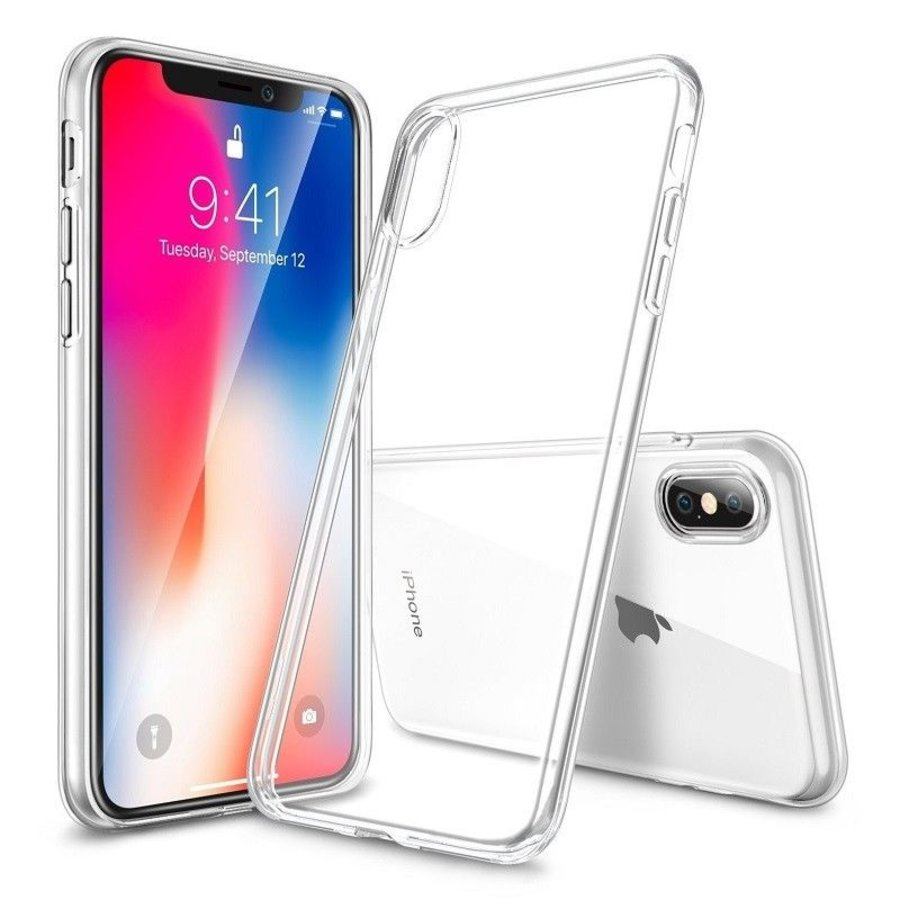 iPhone X / XS Hoes Transparant Case-1