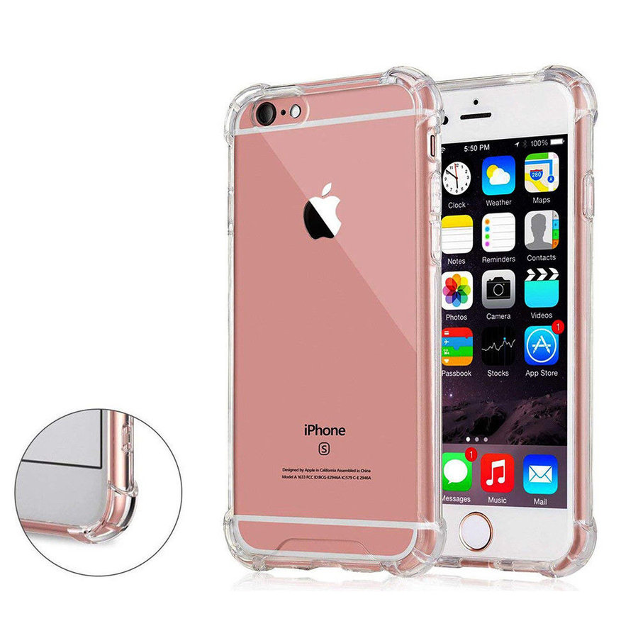 iPhone 6 / 6S Hoes Transparant Shockproof Case-1