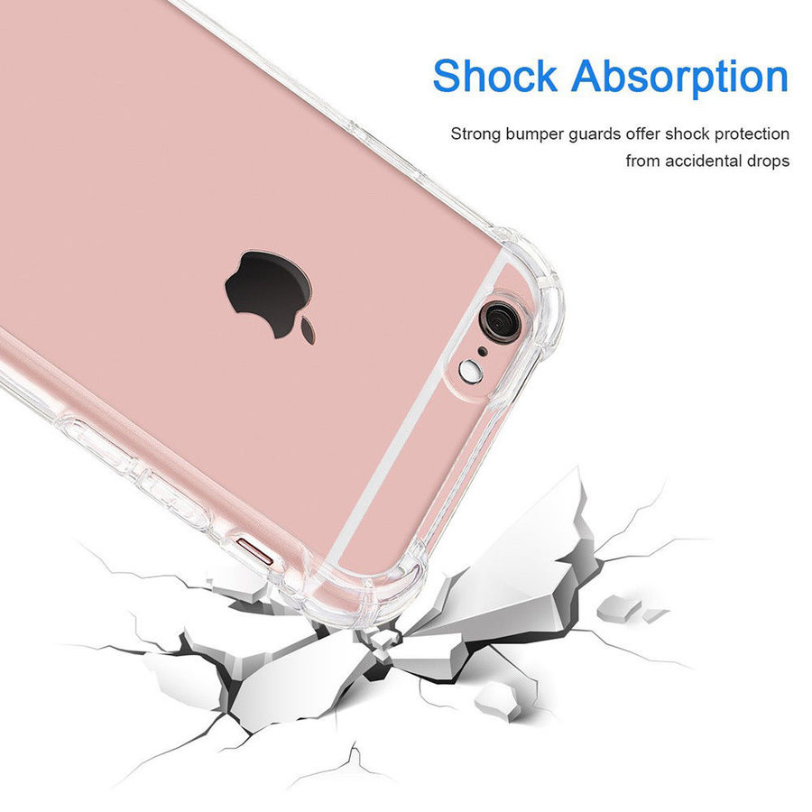 iPhone 6 / 6S Hoes Transparant Shockproof Case-2