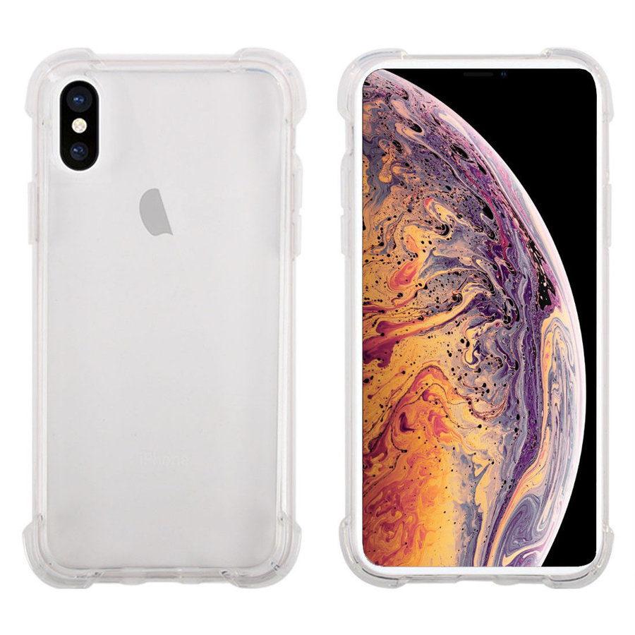 iPhone X / XS Cover Transparant Shockproof Case-1