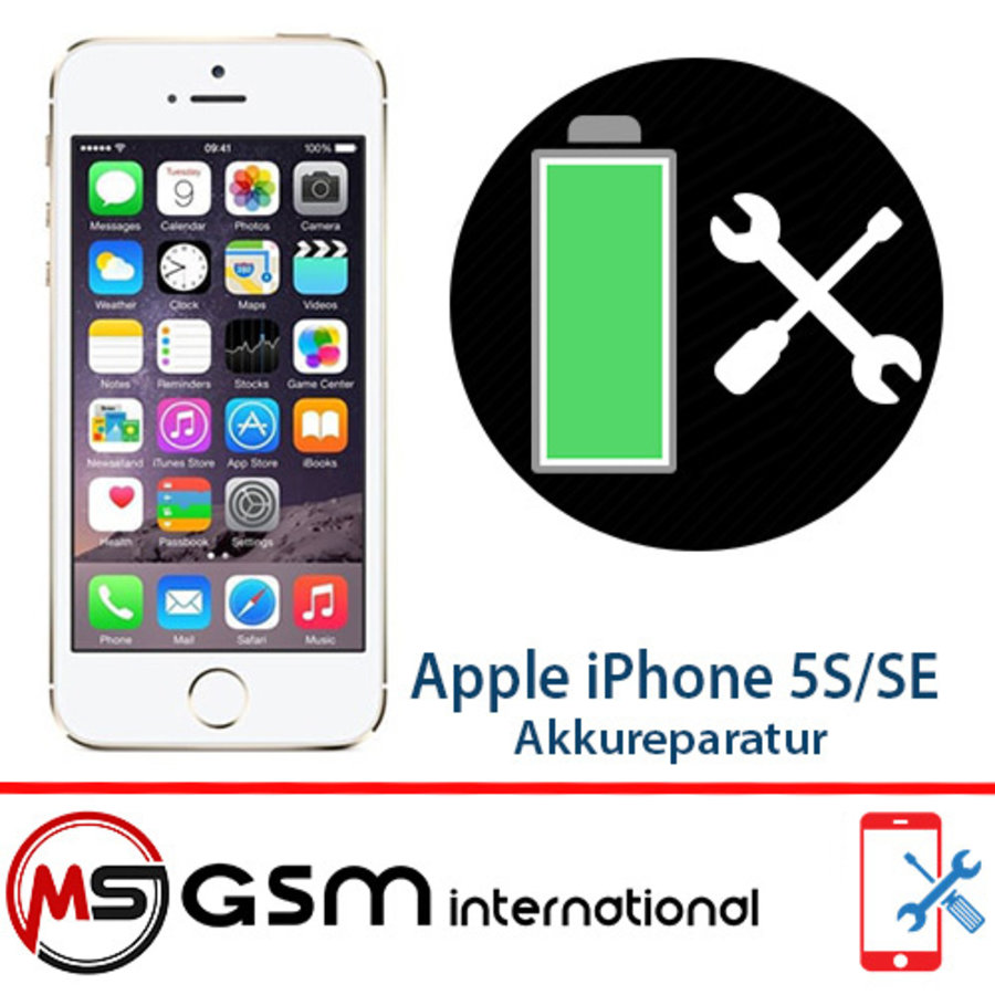 Akkureparatur für Apple iPhone 5S / SE   Austausch Akku inkl. Einbau-1