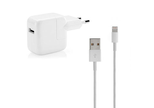 iPad Lightning OEM USB Cable 1M (Certified) incl. Adapter