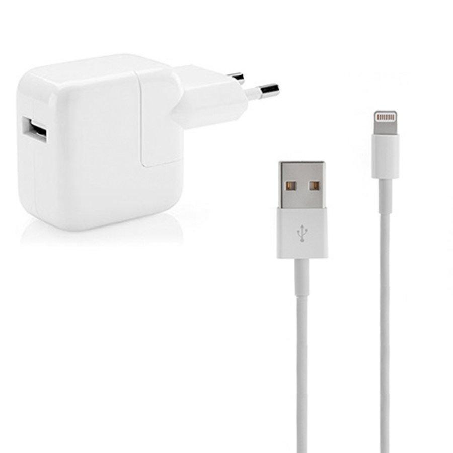 iPad Lightning OEM USB Kabel 1M (Gecertificeerd) incl. Adapter-1