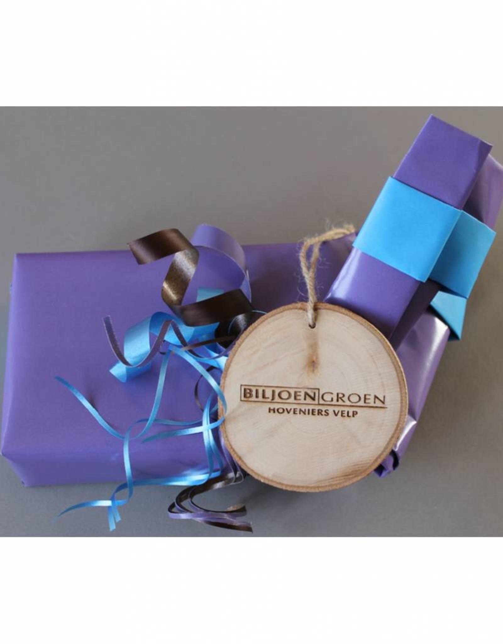 Houten cadeau-label - met bedrijfsnaam / logo