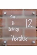 Vierkant naambord met uw logo/tekst