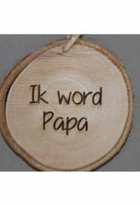 """Houten cadeau-label - """"Ik word papa"""""""