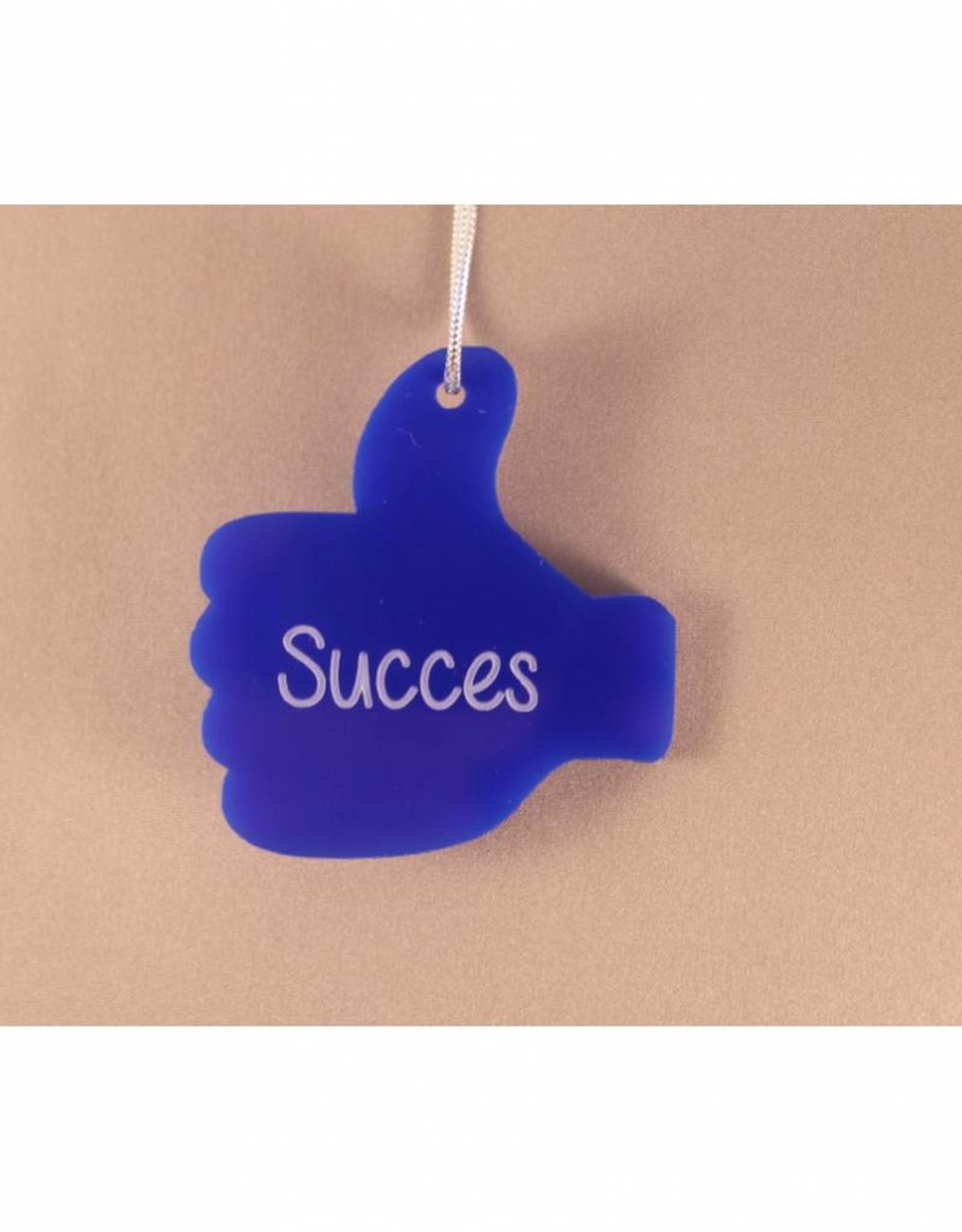 """Cadeau-label Duim - """"Succes"""""""