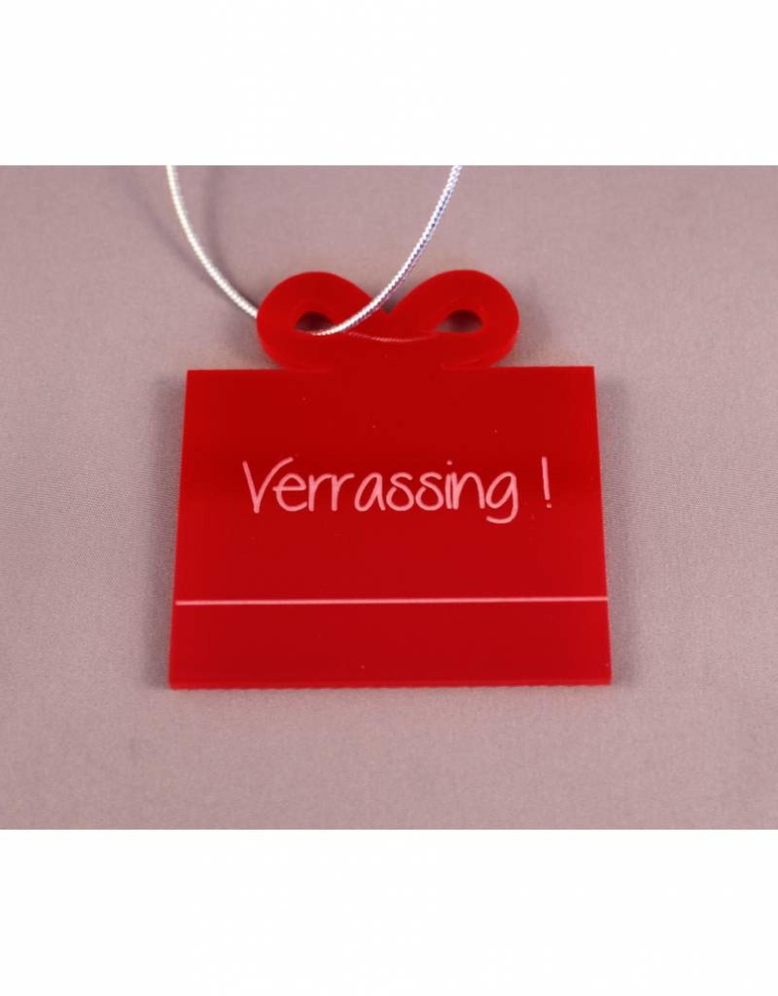 "Cadeau-label Cadeau - ""Verrassing"""