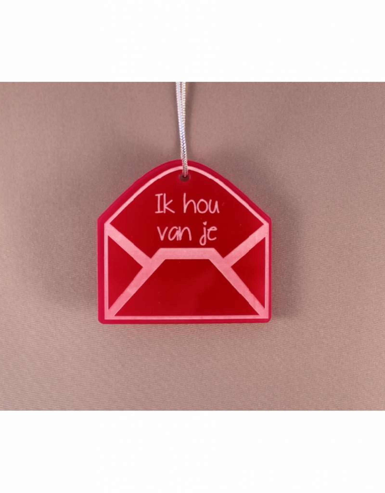 "Cadeau-label Envelop - ""Ik hou van je"""