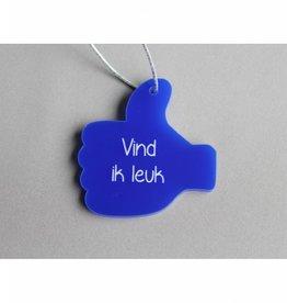 "Cadeau-label Duim - ""Vind ik leuk"""