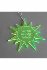 """Cadeau-label Zon - """"Voor het zonnetje in huis"""""""