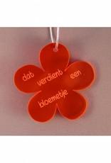 """Cadeau-label Bloem - """"Dat verdient een bloemetje"""""""