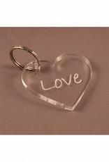 """Sleutelhanger hartje """"Love"""""""
