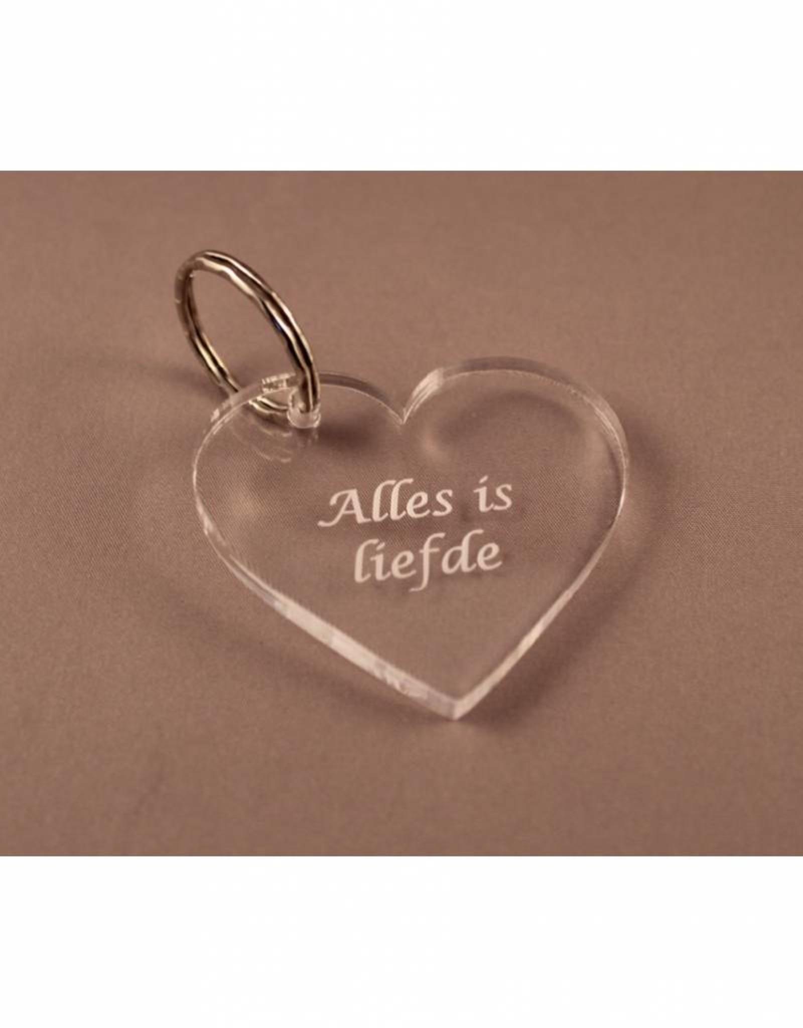 "Sleutelhanger hartje ""Alles is liefde"""