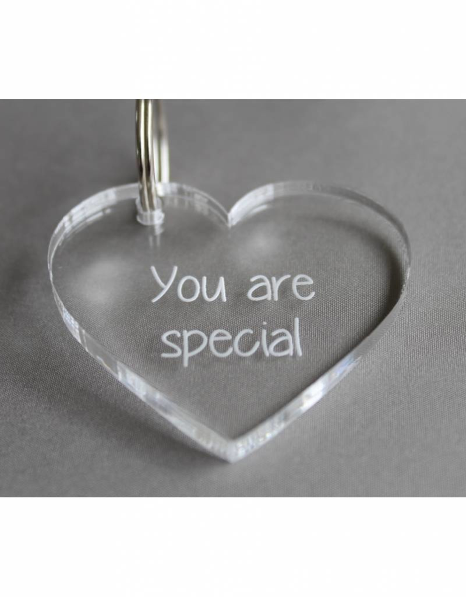 "Sleutelhanger hartje ""You are special"""