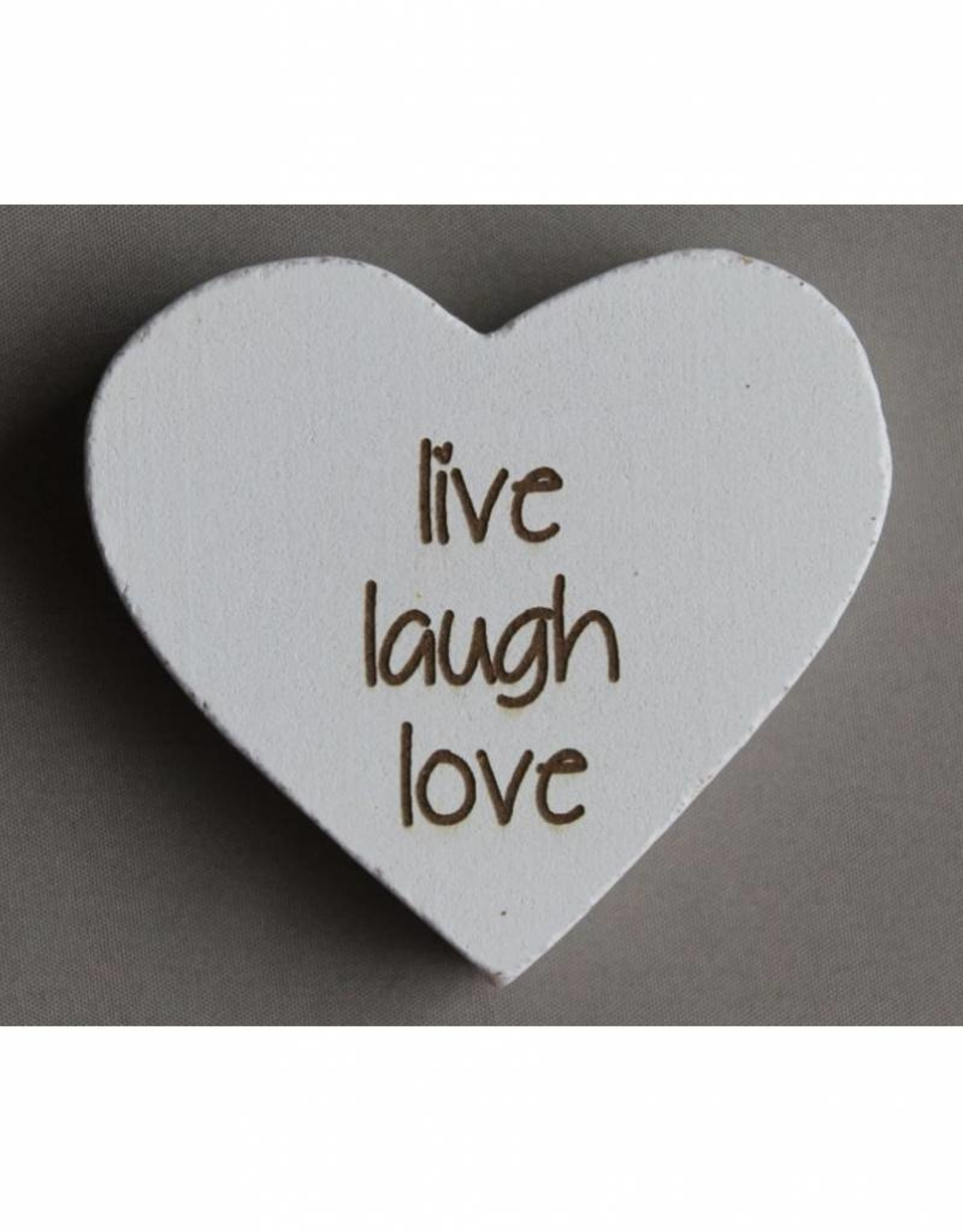 "Magneethart wit ""live laugh love"""