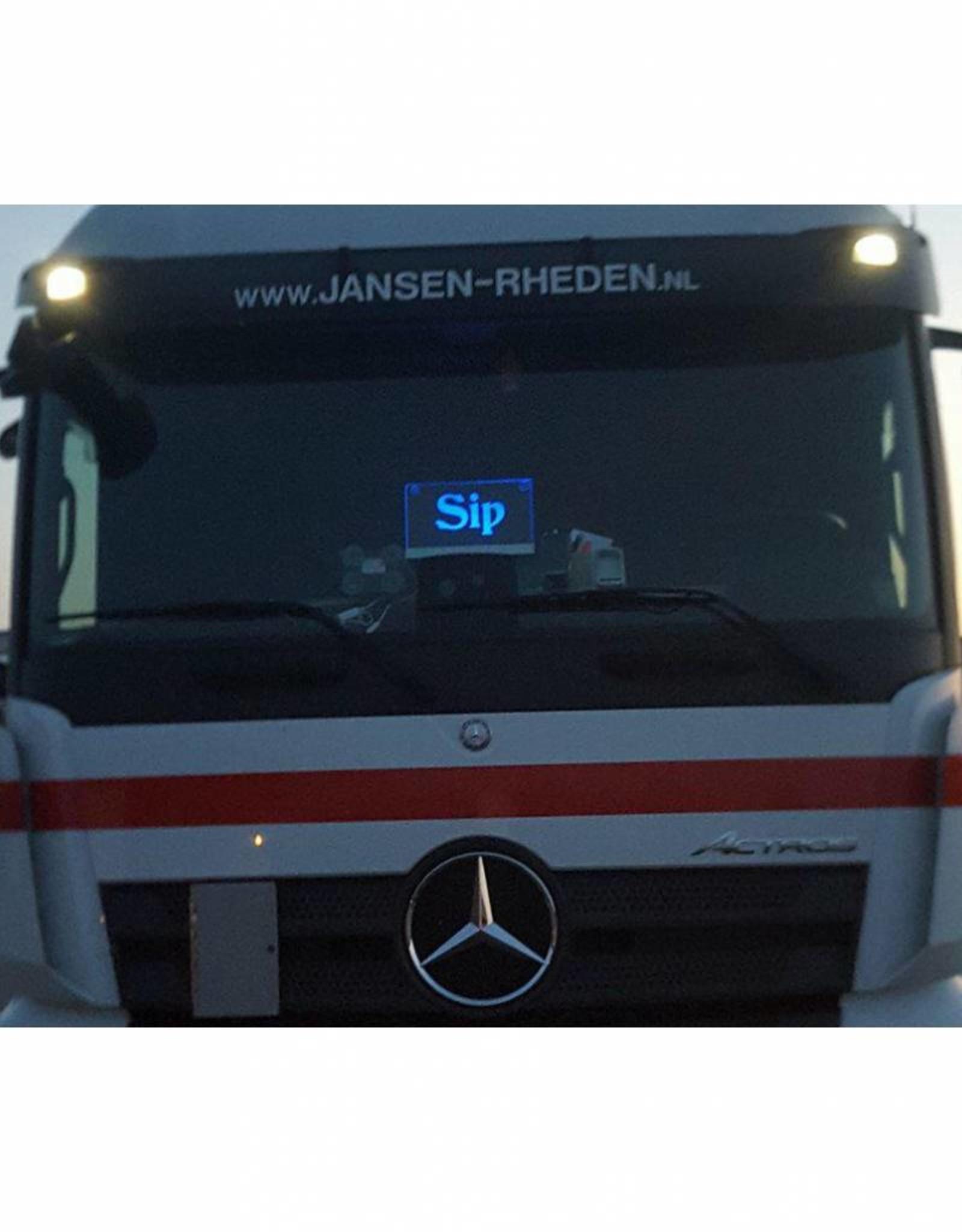 Plexiglas met Led voor in de vrachtwagen