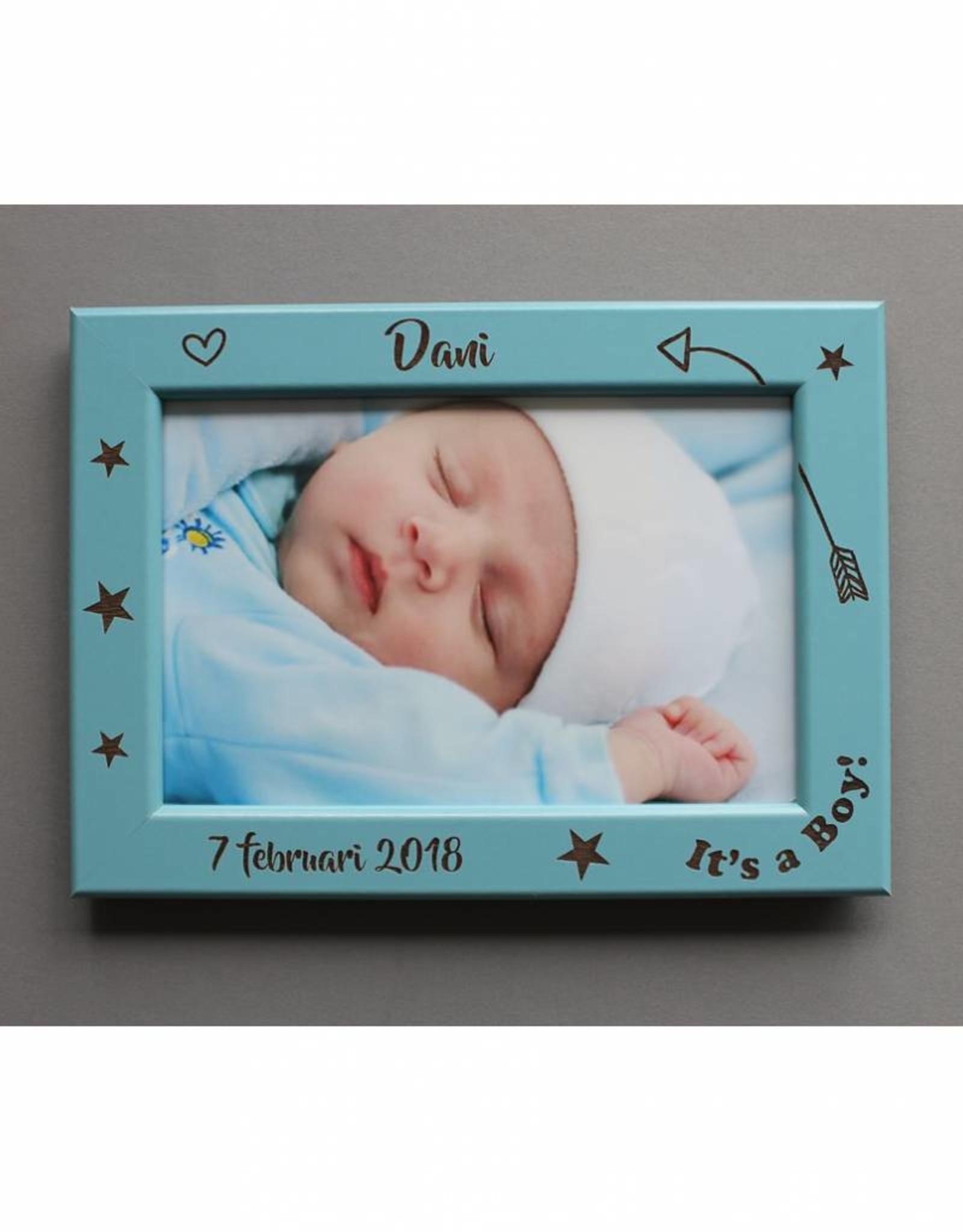 Fotolijst geboorte zoon