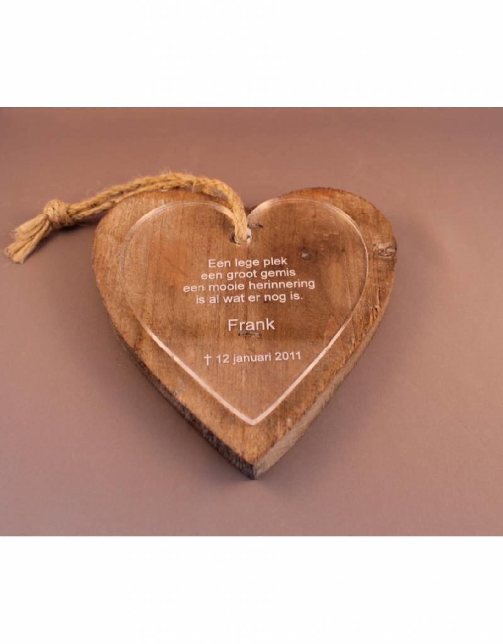 Houten hart (dik)