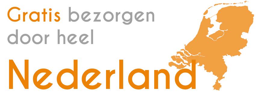 Gratis bezorgen door heel Nederland