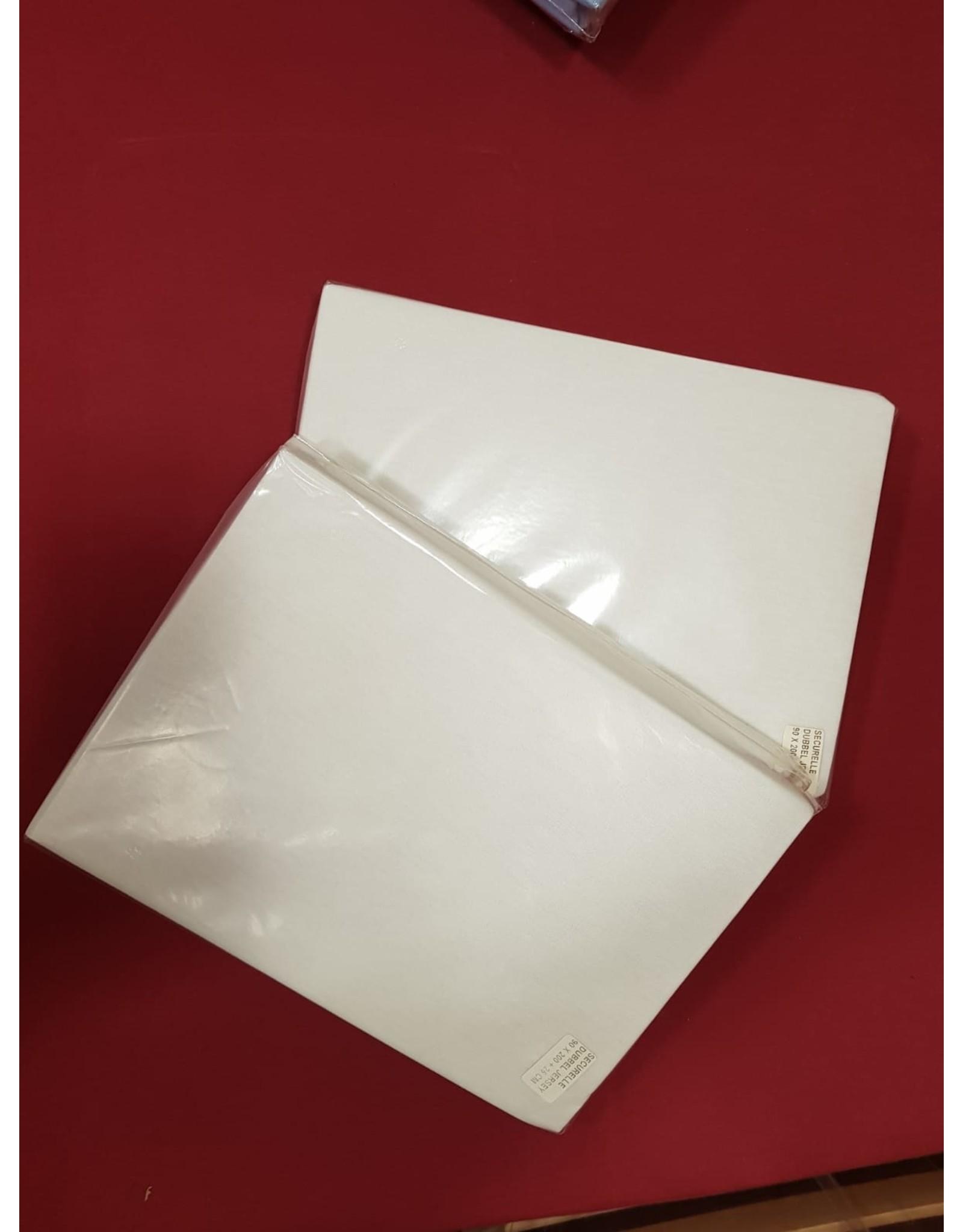 Badstof  hoeslakens 2 stuks (70 x 200)
