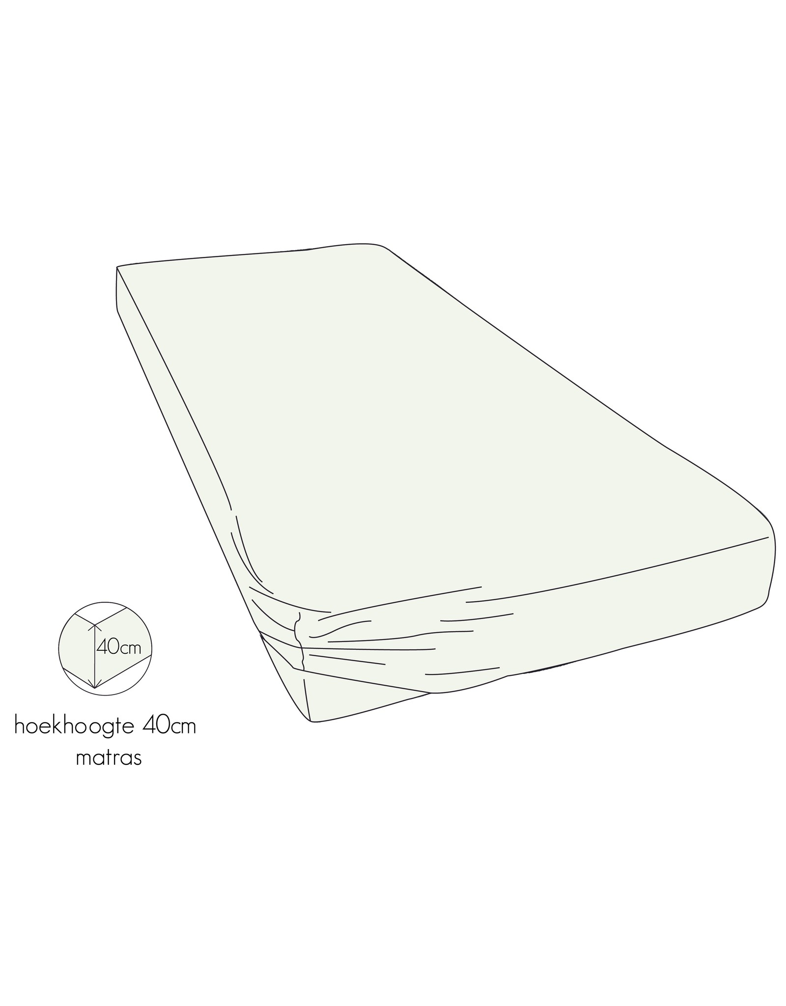 Kayori Kayori Shizu hoeslakens stretch jersy  Offwhite