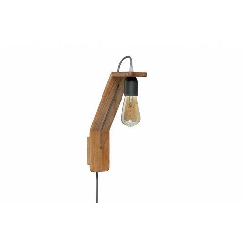 Plus 31 Dutch Lamp Design Wandlamp massief iepen