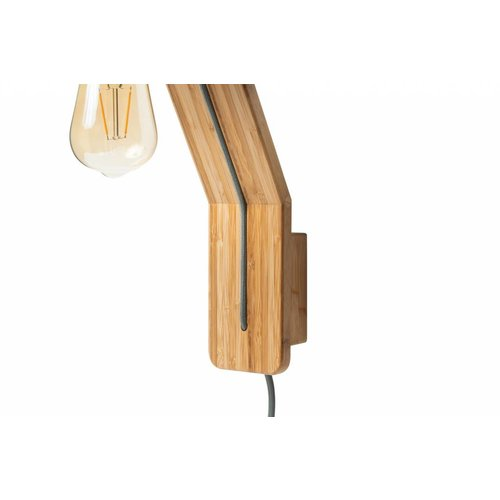 Plus 31 Dutch Lamp Design Wandlamp massief bamboe