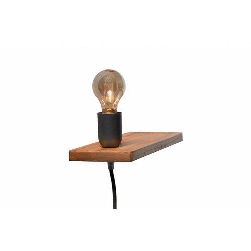 Plus 31 Dutch Lamp Design Wandlamp massief iepen (linker uitvoering)