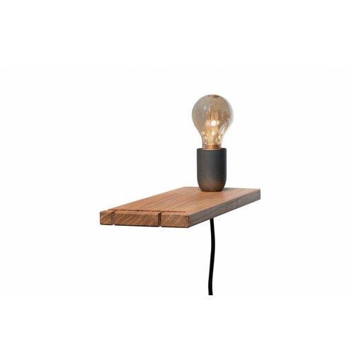Plus 31 Dutch Lamp Design Wandlamp massief iepen (rechter uitvoering)