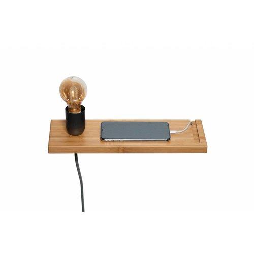Plus 31 Dutch Lamp Design Wandlamp massief bamboe (linker uitvoering)