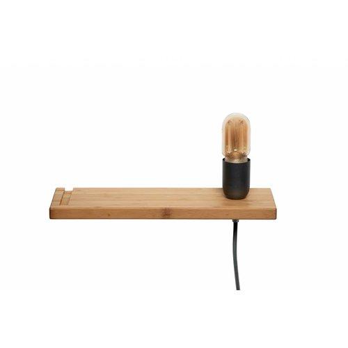 Plus 31 Dutch Lamp Design Wandlamp massief bamboe (rechter uitvoering)