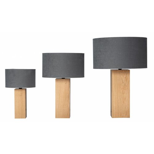 Plus 31 Dutch Lamp Design Tafellamp massief eiken Hollum (excl. kap)