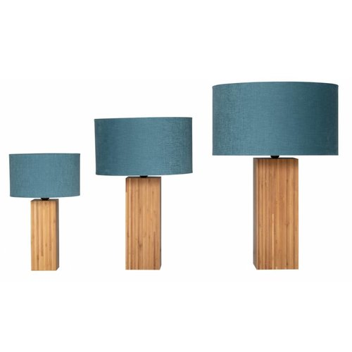 Plus 31 Dutch Lamp Design Tafellamp massief bamboe Hollum (excl. kap)