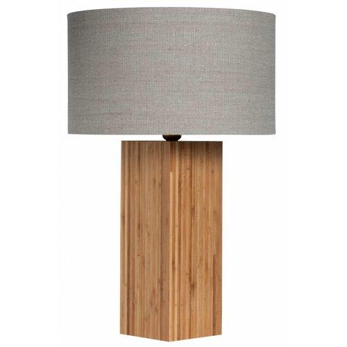 Plus 31 Dutch Lamp Design Tafellamp massief bamboe Hattem (excl. kap)