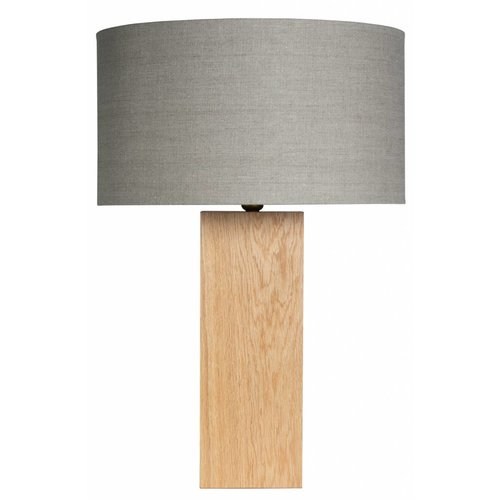 Plus 31 Dutch Lamp Design Tafellamp massief eiken Nisse (excl. kap)
