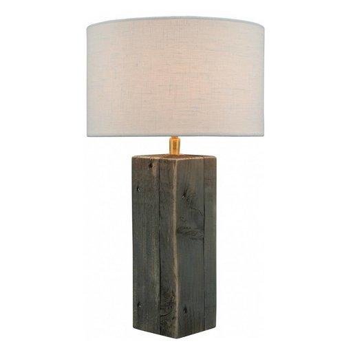 Toplicht Tafellamp steigerhout Urban 25 Grijs (excl. kap)