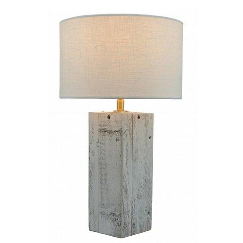 Toplicht Tafellamp steigerhout Urban 25 Wit (excl. kap)