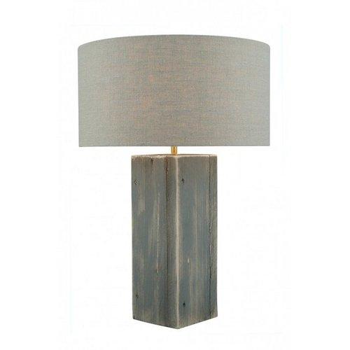 Toplicht Tafellamp steigerhout Urban 40 Grijs (excl. kap)