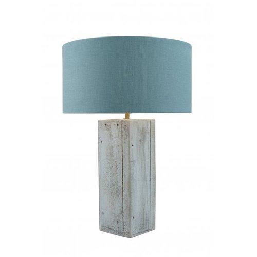 Toplicht Tafellamp steigerhout Urban 40 Wit (excl. kap)