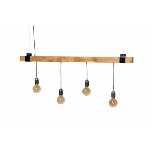 Plus 31 Dutch Lamp Design Hanglamp massief eiken 130 cm