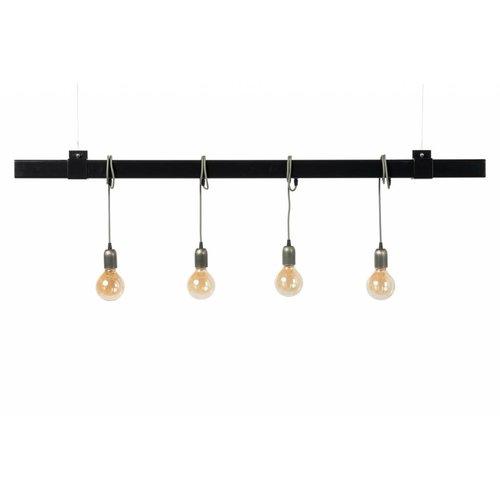 Plus 31 Dutch Lamp Design Hanglamp grafiet zwart staal 150 cm