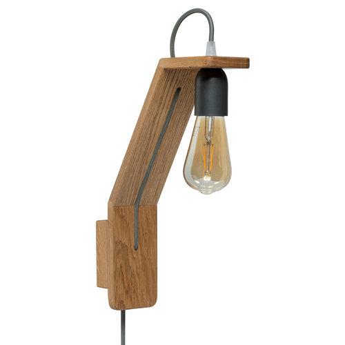 Plus 31 Dutch Lamp Design Eiken tafellamp Axel en wandlamp Ruinen
