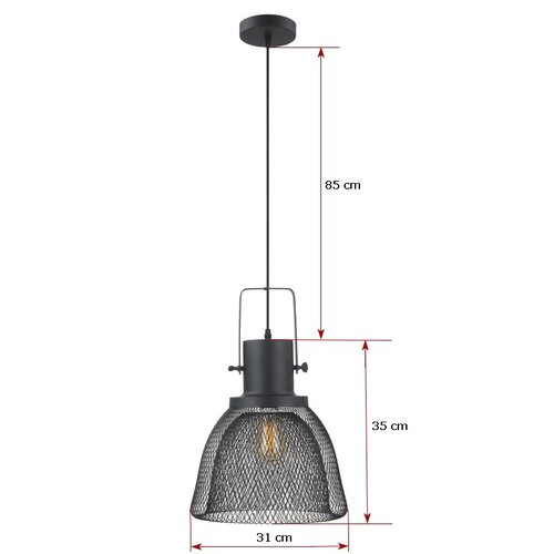 Hanglamp zwart metaal Enzo